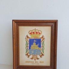 Antigüedades: AZULEJO DEL ESCUDO DE OROPESA DE MAR. CASTELLÓN.. Lote 275118663