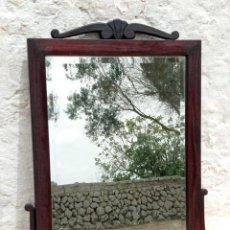 Antigüedades: ANTIGUO ESPEJO BISELADO EN MADERA - ÉPOCA ART DECÓ. Lote 275128098