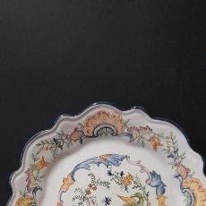 Antiquités: ALCORA PRECIOSO PLATO PINTADO A MANO. Lote 275148248