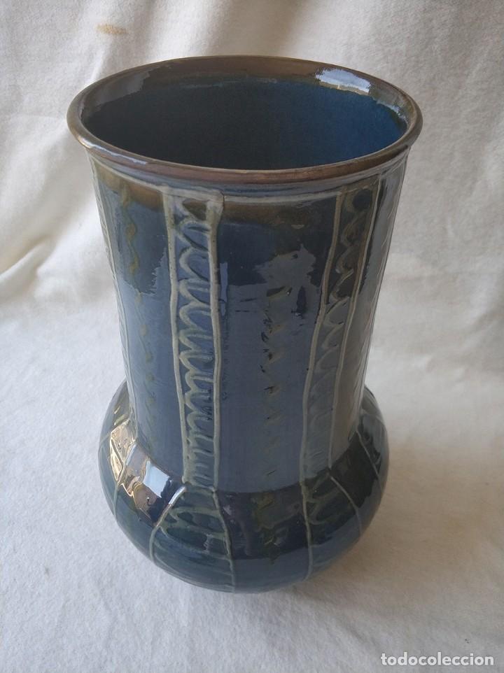 Antigüedades: Jarron de cerámica catalana La Bisbal firmada Vila Clara, años 70 - Foto 2 - 275187103