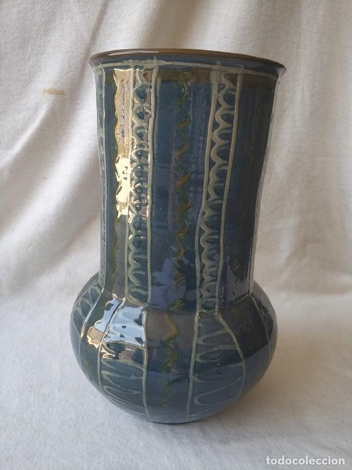Antigüedades: Jarron de cerámica catalana La Bisbal firmada Vila Clara, años 70 - Foto 3 - 275187103