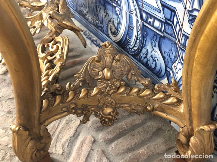 Antigüedades: Consola isabelina dorada siglo XIX, 148 cm - Foto 14 - 275212643