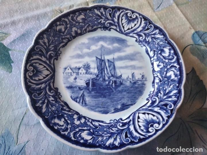 Antigüedades: Precioso plato de porcelana royal sdhinx maastricht delft ,made in holland - Foto 2 - 275227463