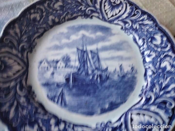 Antigüedades: Precioso plato de porcelana royal sdhinx maastricht delft ,made in holland - Foto 3 - 275227463
