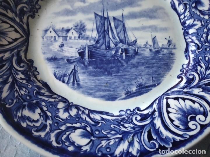 Antigüedades: Precioso plato de porcelana royal sdhinx maastricht delft ,made in holland - Foto 4 - 275227463