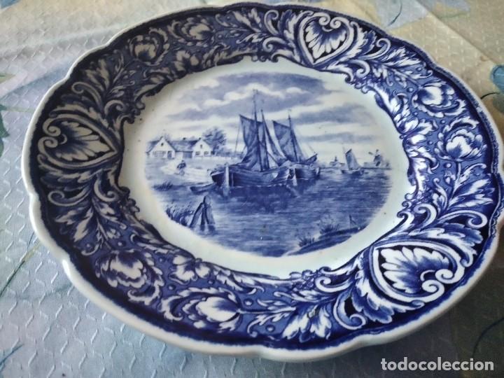 Antigüedades: Precioso plato de porcelana royal sdhinx maastricht delft ,made in holland - Foto 5 - 275227463