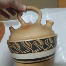 Antigüedades: PRECIOSO BOTIJO DE CERÁMICA VERDU. Lote 275229593