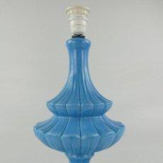 Antiquités: LAMPARA ANTIGUA CERÁMICA AZUL MANISES EXCELENTE DECORACIÓN RETRO. Lote 275259213