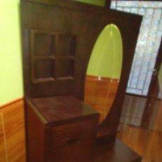 Antigüedades: ENTRADA TOCADOR DE MADERA MACIZA. Lote 275278543