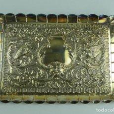 Antigüedades: MAGNIFICA BANDEJA DE PLATA EXCELENTE DISEÑO PESA 260 GRAMOS. Lote 275289163