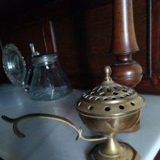 Antigüedades: ANTIGUO INCENSARIO DE BRONCE. Lote 275292058