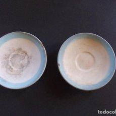 Antigüedades: 2 PLATOS DE CAFÉ MARCA SAN CLAUDIO OVIEDO. Lote 275312553