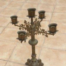 Antigüedades: CANDELABRO DE IGLESIA ANTIGUO. Lote 275526688