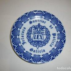 Antigüedades: PLATILLO PORCELANA - JEFATURA SUPERIOR DE POLICIA - GALICIA - CERÁMICA EL CASTRO. Lote 275556648