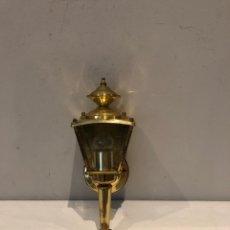 Antigüedades: LÁMPARA P PARED FAROL 1LUZ BRONC PULIDO 100W . VER FOTOS. Lote 275580308
