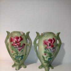 Antigüedades: JARRON FLORAL MODERNISTA - LONGWY. Lote 275613358