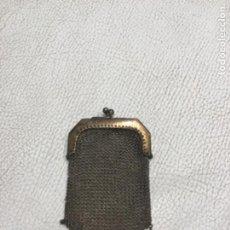 Antigüedades: MONEDERO DE PLATA PRINCIPIOS DEL SIGLO X.. Lote 275623933
