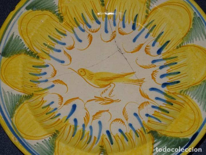 (M) ANTIGUO PLATO DE RIBESALBES S.XIX LAÑADO VER FOTOGRAFÍAS 30 CM. (Antigüedades - Porcelanas y Cerámicas - Ribesalbes)
