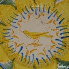 Antigüedades: (M) ANTIGUO PLATO DE RIBESALBES S.XIX LAÑADO VER FOTOGRAFÍAS 30 CM.. Lote 275666268
