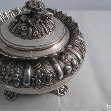 Antigüedades: MAGNIFICA BOMBONERA EN PLATA MACIZA AUSTRIACA O ALEMANA DE SIGLO XIX DE LEY 900 , 600GR. Lote 275666463