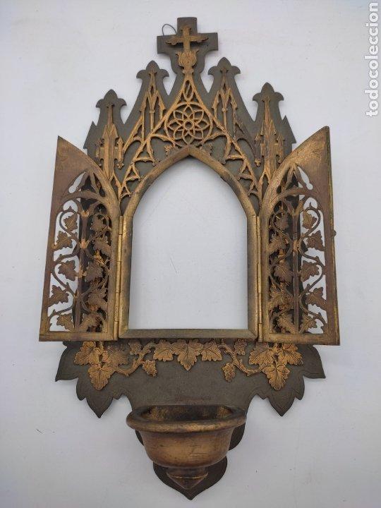 Antigüedades: Antigua benditera - Foto 3 - 275669438