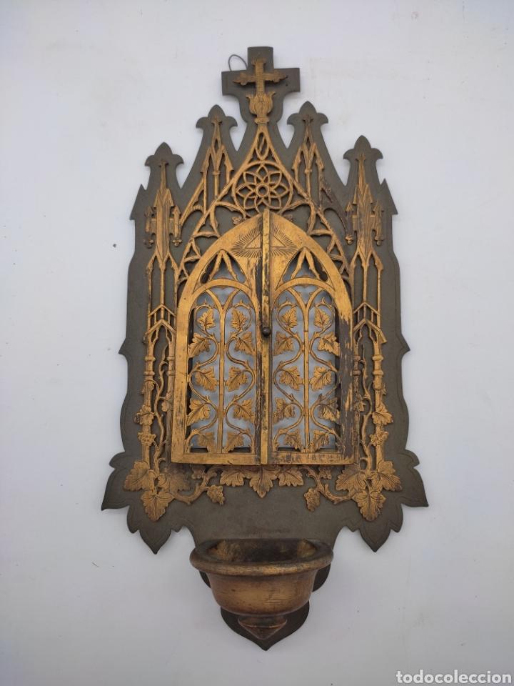 ANTIGUA BENDITERA (Antigüedades - Religiosas - Benditeras)
