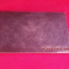 Oggetti Antichi: LINGOTE PLATA FINA 999 .PESA 202 G .VER FOTOS. Lote 275738238