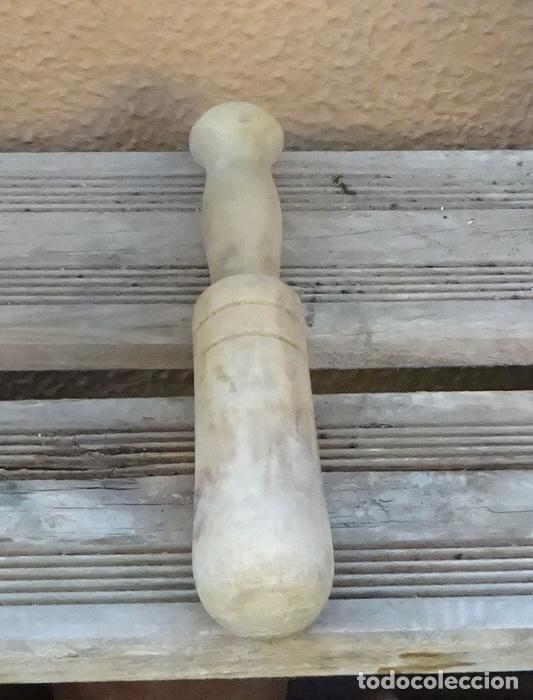 MAZA DE MORTERO. LONGITUD 20 CM (Antigüedades - Técnicas - Rústicas - Utensilios del Hogar)
