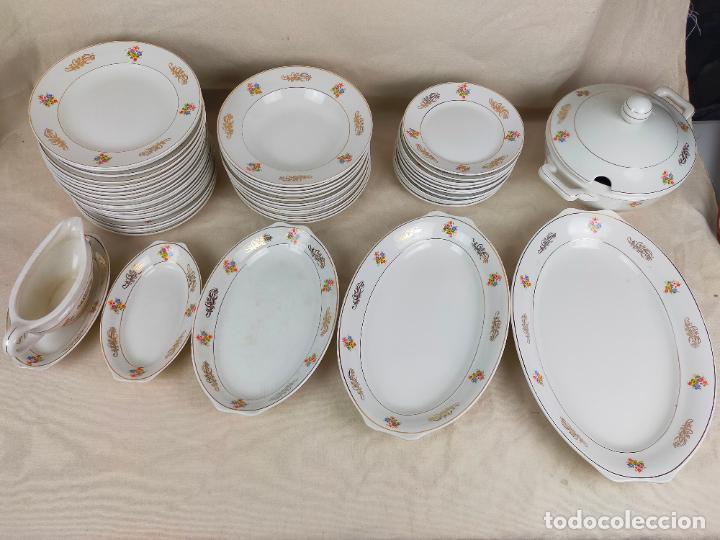 Antigüedades: vajilla porcelana royal china vigo platos y bandejas - ribete dorado - Foto 10 - 275879953