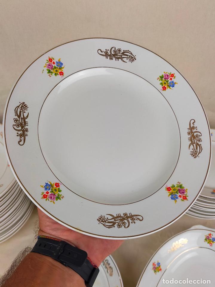 Antigüedades: vajilla porcelana royal china vigo platos y bandejas - ribete dorado - Foto 11 - 275879953