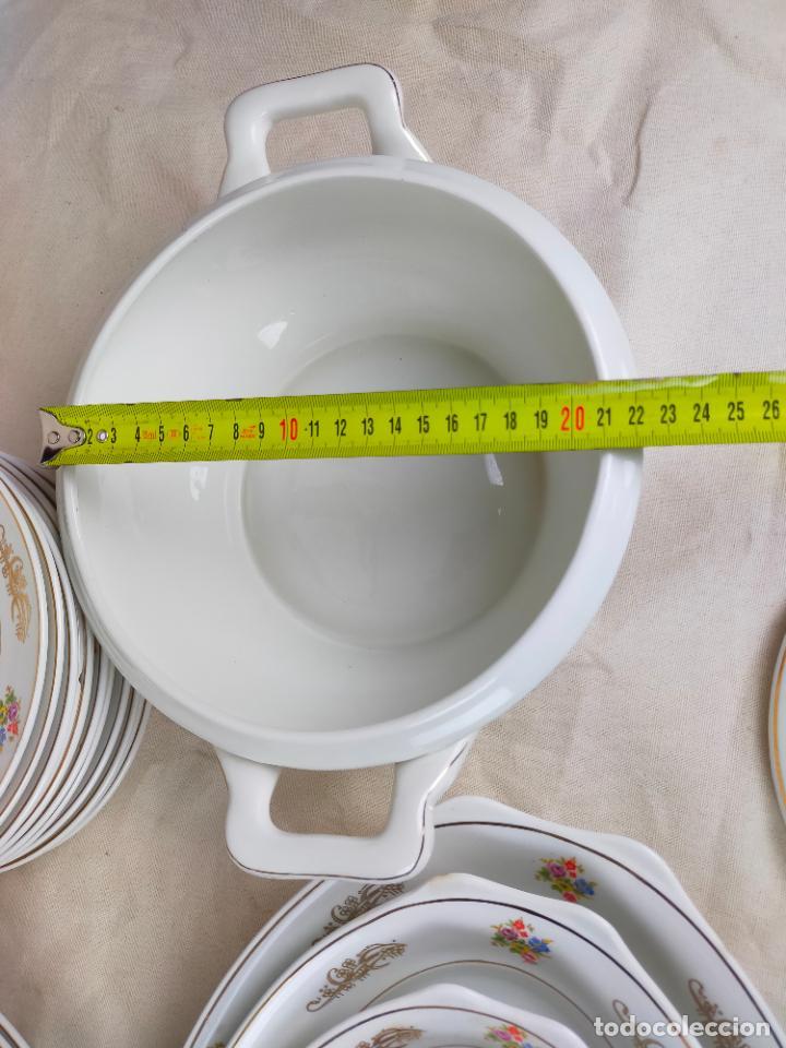 Antigüedades: vajilla porcelana royal china vigo platos y bandejas - ribete dorado - Foto 17 - 275879953