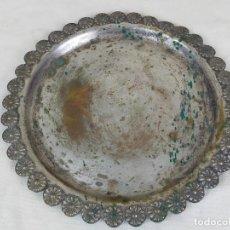 Antigüedades: BANDEJA ALPACA DE 29 CM DE DIAMETRO. Lote 275880773