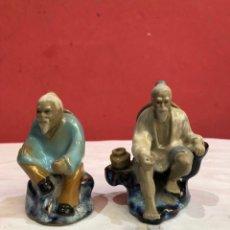 Antigüedades: PAREJA FIGURAS CHINAS PORCELANAS ORIGINALES. Lote 275889128