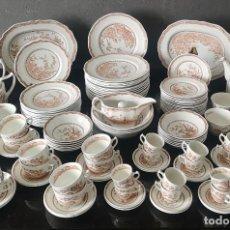 Antigüedades: GRAN CONJUNTO DE VAJILLA DE PORCELANA INGLESA FURNIVALS QUAIL 1913 + DE 70 PIEZAS. Lote 275895353