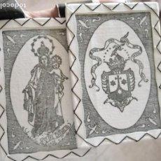 Antigüedades: GRAN ESCAPULARIO VIRGEN DEL CARMEN DE PROCESION. Lote 275895803