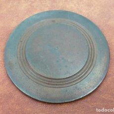 Antigüedades: PLATO ALPACA METALICO. Lote 275900143