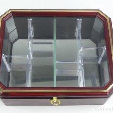 Antiquités: EXCELENTE EXPOSITOR VITRINA DE PARED IDEAL PARA EXPONER COLECCIONES. Lote 275907368