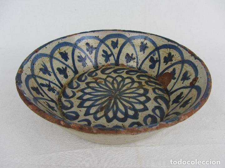 Antigüedades: Fuente en cerámica azul de Fajalauza, siglo XIX - Foto 2 - 275936008