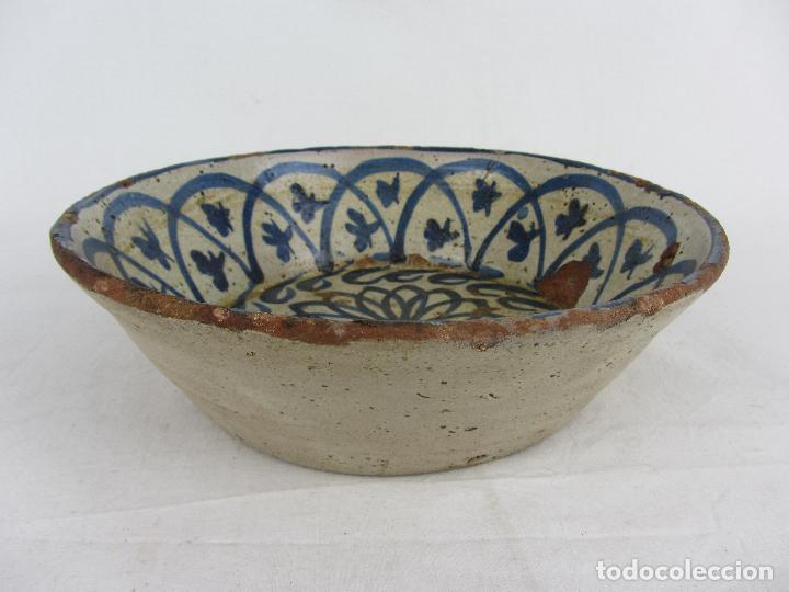 Antigüedades: Fuente en cerámica azul de Fajalauza, siglo XIX - Foto 3 - 275936008