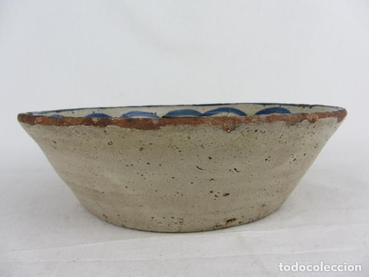 Antigüedades: Fuente en cerámica azul de Fajalauza, siglo XIX - Foto 4 - 275936008