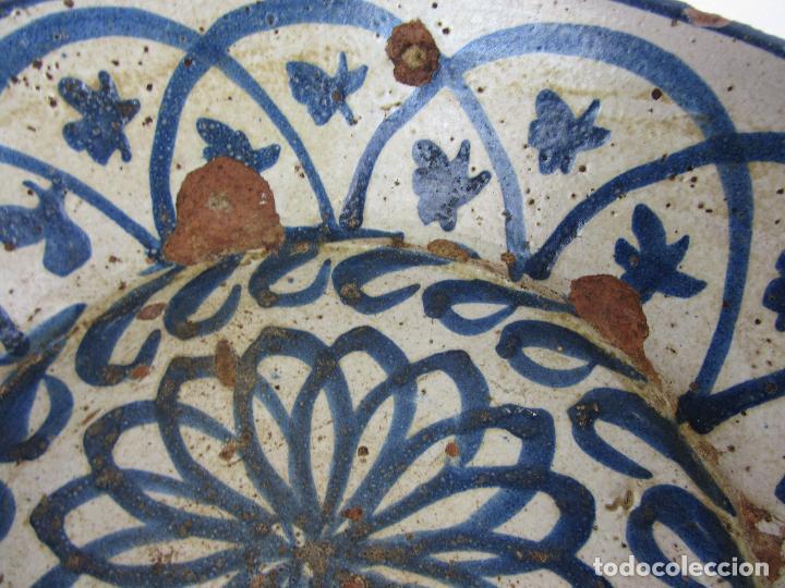 Antigüedades: Fuente en cerámica azul de Fajalauza, siglo XIX - Foto 5 - 275936008