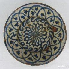 Antigüedades: FUENTE EN CERÁMICA AZUL DE FAJALAUZA, SIGLO XIX. Lote 275936008