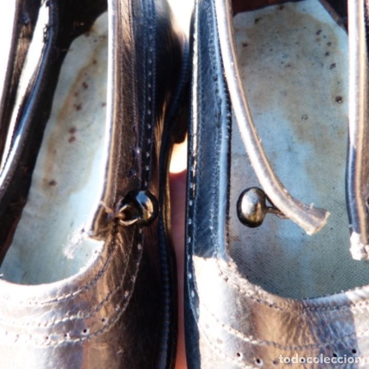 Antigüedades: Zapatitos de niña , suelas de cuero con clavos , principios de siglo XX - Foto 11 - 275957863
