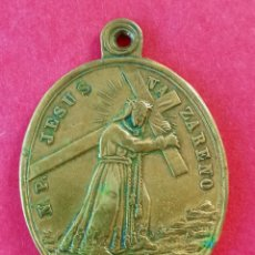 Antigüedades: MEDALLA SIGLO XIX JESUS NAZARENO. ORIHUELA. SAN FRANCISCO ORDEN TERCERA.. Lote 275961458