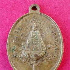 Antigüedades: MEDALLA SIGLO XIX VIRGEN DE LA ESPERANZA PATRONA DE DURÓN. GUADALAJARA. EXCELENTE CONSERVACIÓN.. Lote 275961658