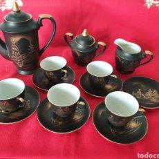 Antigüedades: ANTIGUO JUEGO CAFE JAPÓN PORCELANA. Lote 275974583