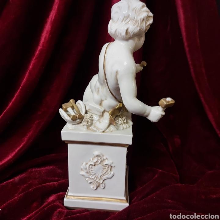 Antigüedades: Figura niño escultor porcelana algora - Foto 2 - 276003278