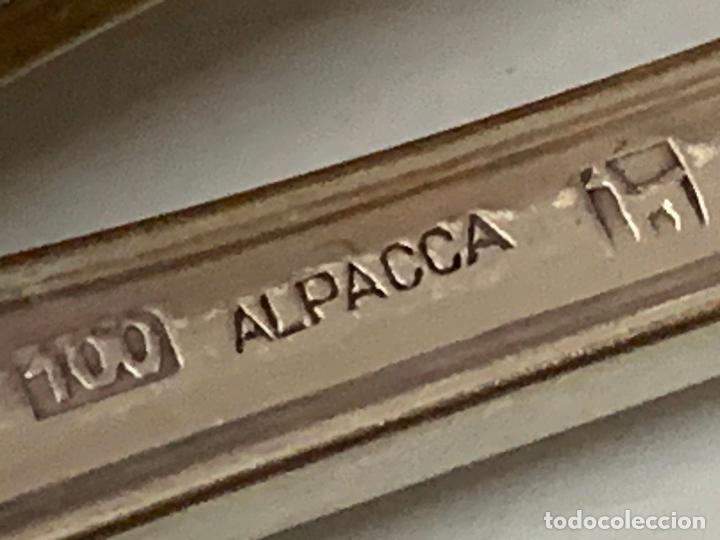 Antigüedades: Lote de 1o antiguos tenedores, 4 de 21cms y 6 de 18cms. Alpaca plateada, Grife Escoda - Foto 2 - 276026943