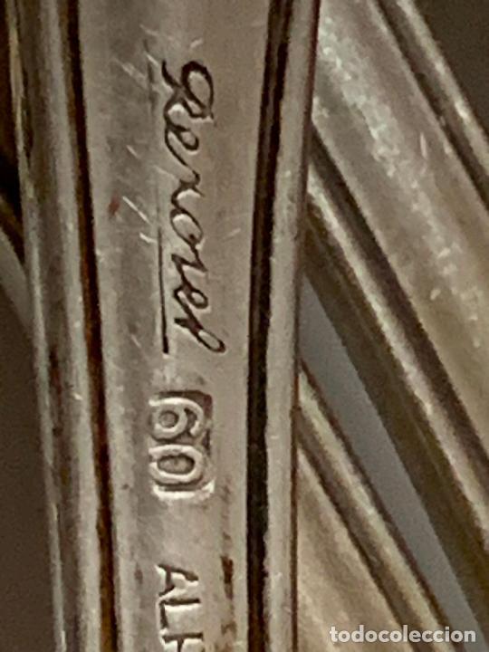 Antigüedades: Lote de 1o antiguos tenedores, 4 de 21cms y 6 de 18cms. Alpaca plateada, Grife Escoda - Foto 3 - 276026943