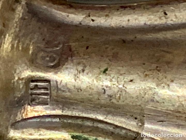 Antigüedades: Lote de 12 antiguos cuchillos, 6 de 25cms y 6 de 20cms. Alpaca plateada tipo meneses... - Foto 6 - 276028873